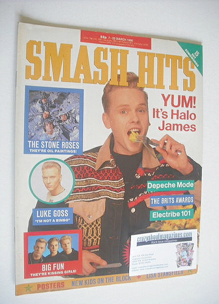 <!--1990-03-07-->Smash Hits magazine - Christian James cover (7-20 March 19