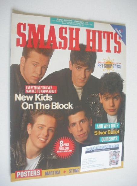 <!--1990-01-24-->Smash Hits magazine - New Kids On The Block cover (24 Janu