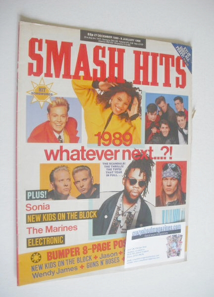 <!--1989-12-27-->Smash Hits magazine - 1989 Whatever Next cover (27 Decembe