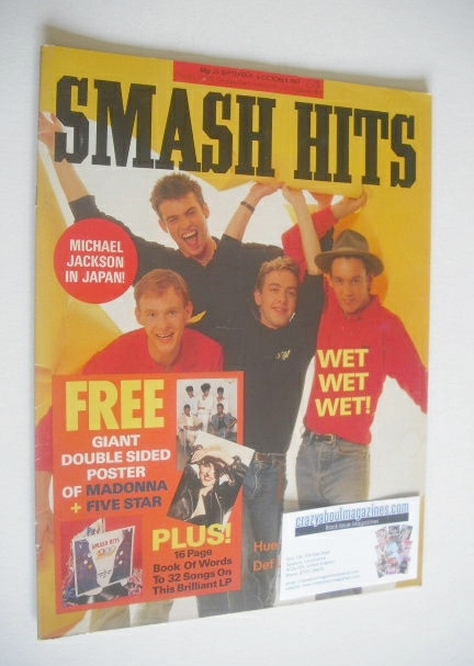 <!--1987-09-23-->Smash Hits magazine - Wet Wet Wet cover (23 September-6 Oc