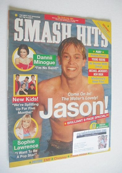 <!--1991-07-10-->Smash Hits magazine - Jason Donovan cover (10-23 July 1991
