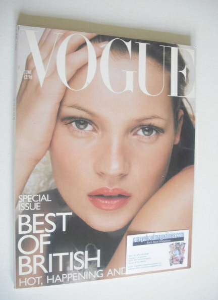 <!--1998-06-->British Vogue magazine - June 1998 - Kate Moss cover