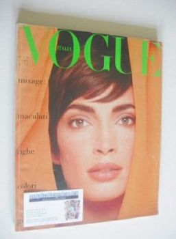 Vogue Italia magazine - March 1989 - Dana Patrick cover