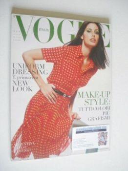 <!--1996-04-->Vogue Italia magazine - April 1996 - Elsa Benitez cover