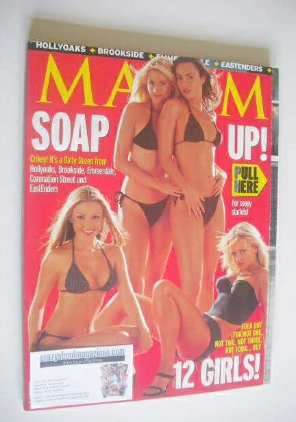 <!--2000-11-->MAXIM magazine - Soap Girls cover (November 2000)
