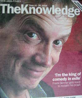 The Knowledge magazine - 20-26 September 2008 - Frank Skinner cover