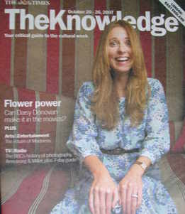The Knowledge magazine - 20-26 October 2007 - Daisy Donovan cover
