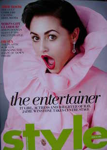 <!--2008-06-29-->Style magazine - Jaime Winstone cover (29 June 2008)