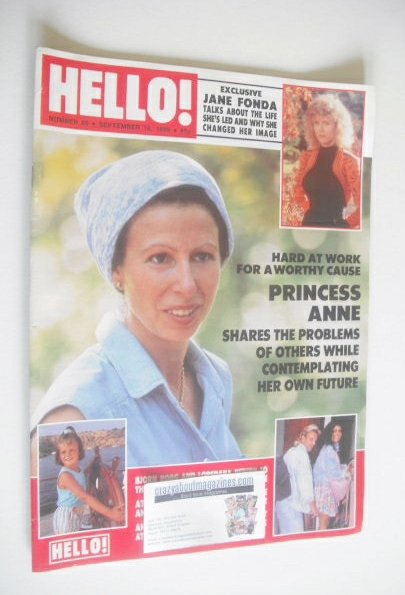 <!--1989-09-16-->Hello! magazine - Princess Anne cover (16 September 1989 -