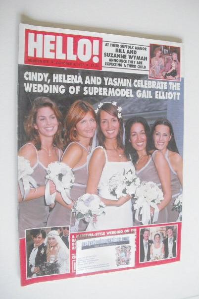 <!--1997-10-04-->Hello! magazine - Gail Elliott wedding cover (4 October 19