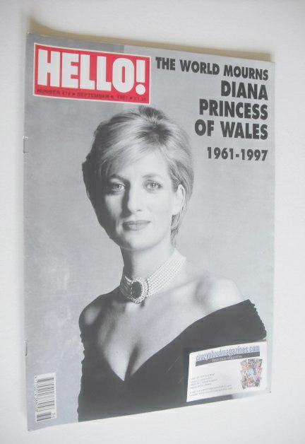<!--1997-09-06-->Hello! magazine - Princess Diana cover (6 September 1997 -