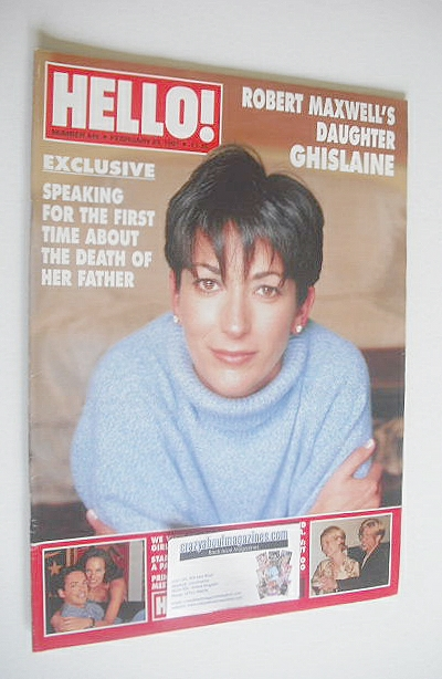 <!--1997-02-23-->Hello! magazine - Ghislaine Maxwell cover (23 February 199