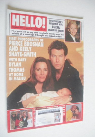<!--1997-03-01-->Hello! magazine - Pierce Brosnan and Keely Shaye-Smith cov