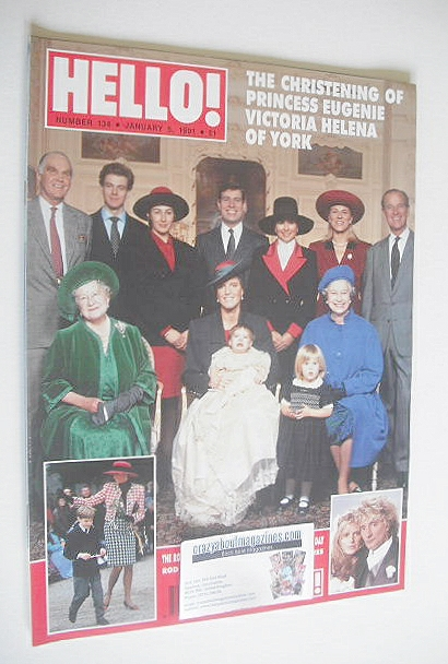 <!--1991-01-05-->Hello! magazine - Princess Eugenie christening cover (5 Ja