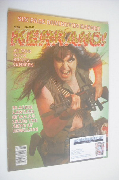 <!--1985-09-05-->Kerrang magazine - Blackie Lawless cover (5-18 September 1