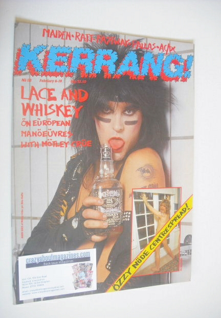<!--1986-02-06-->Kerrang magazine - Nikki Sixx cover (6-19 February 1986 -