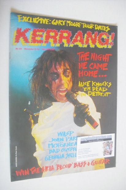 <!--1986-11-13-->Kerrang magazine - Alice Cooper cover (13-26 November 1986