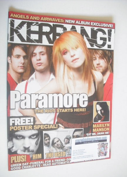<!--2007-06-02-->Kerrang magazine - Paramore cover (2 June 2007 - Issue 116