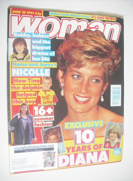 <!--1991-06-10-->Woman magazine - Princess Diana cover (10 June 1991)