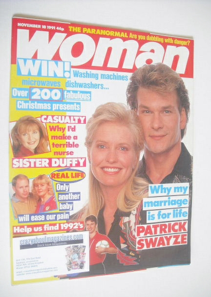 <!--1991-11-18-->Woman magazine - Patrick Swayze cover (18 November 1991)