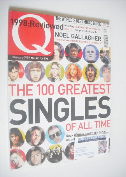 <!--1999-02-->Q magazine - The 100 Greatest Singles Of All Time cover (Febr