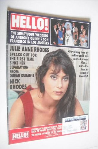 <!--1992-10-03-->Hello! magazine - Julie Anne Rhodes cover (3 October 1992
