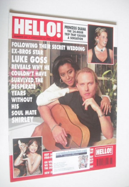 <!--1995-02-11-->Hello! magazine - Luke Goss and Shirley Lewis cover (11 Fe