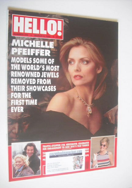 <!--1995-03-04-->Hello! magazine - Michelle Pfeiffer cover (4 March 1995 -