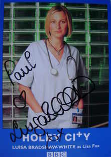 Luisa Bradshaw-White autograph (ex Holby City actor)