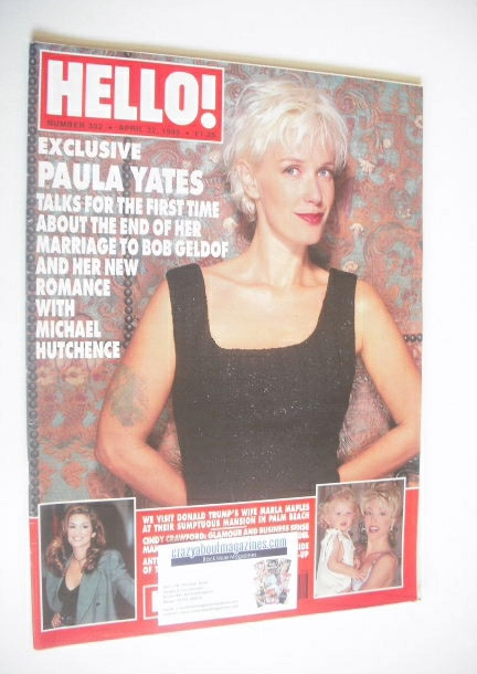 <!--1995-04-22-->Hello! magazine - Paula Yates cover (22 April 1995 - Issue