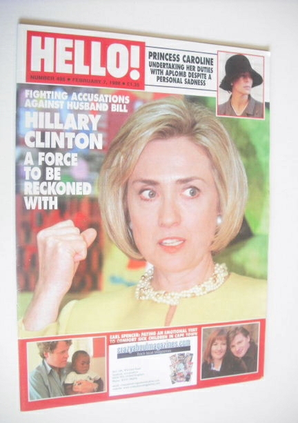 <!--1998-02-07-->Hello! magazine - Hillary Clinton cover (7 February 1998 -