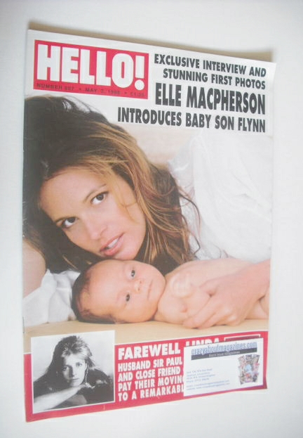<!--1998-05-02-->Hello! magazine - Elle Macpherson cover (2 May 1998 - Issu