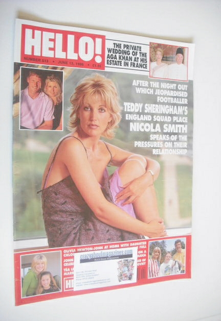 <!--1998-06-13-->Hello! magazine - Nicola Smith cover (13 June 1998 - Issue