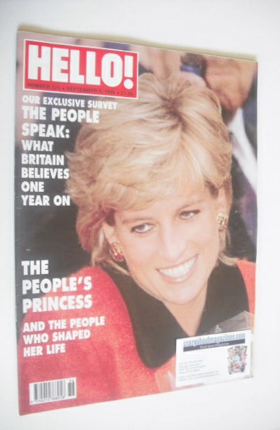 <!--1998-09-05-->Hello! magazine - Princess Diana cover (5 September 1998 -