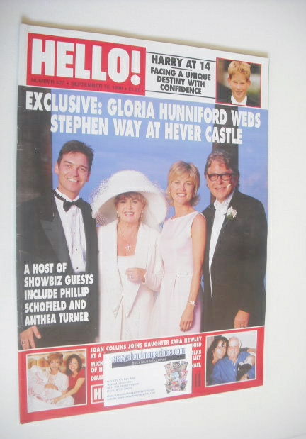 <!--1998-09-19-->Hello! magazine - Gloria Hunniford and Stephen Way wedding
