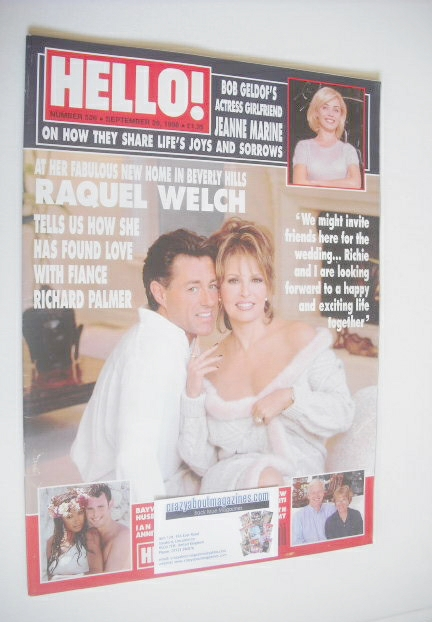 <!--1998-09-26-->Hello! magazine - Raquel Welch cover (26 September 1998 -