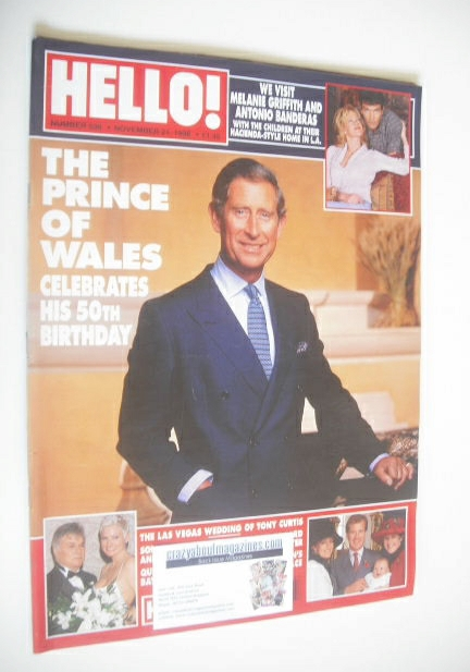 <!--1998-11-21-->Hello! magazine - Prince Charles cover (21 November 1998 -