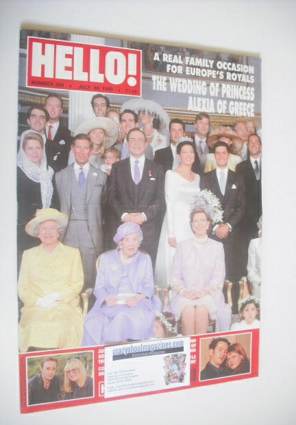 <!--1999-07-20-->Hello! magazine - Princess Alexia wedding cover (20 July 1