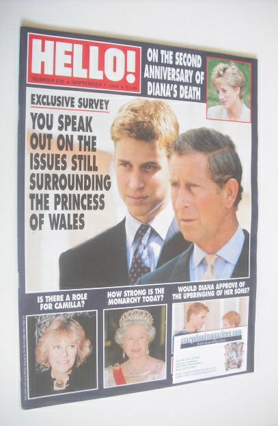<!--1999-09-07-->Hello! magazine - Prince Charles and Prince William cover