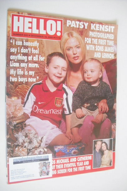 <!--2000-12-19-->Hello! magazine - Patsy Kensit and sons cover (19 December