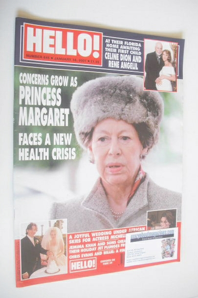 <!--2001-01-16-->Hello! magazine - Princess Margaret cover (16 January 2001