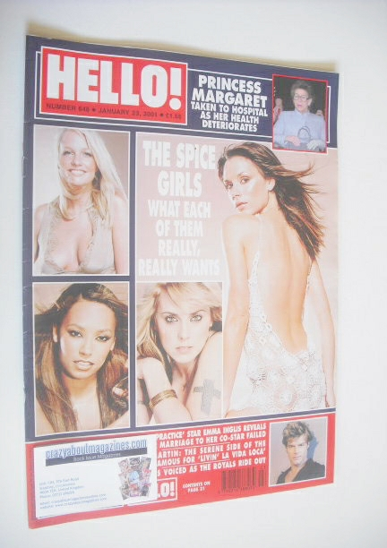 <!--2001-01-23-->Hello! magazine - The Spice Girls cover (23 January 2001 -