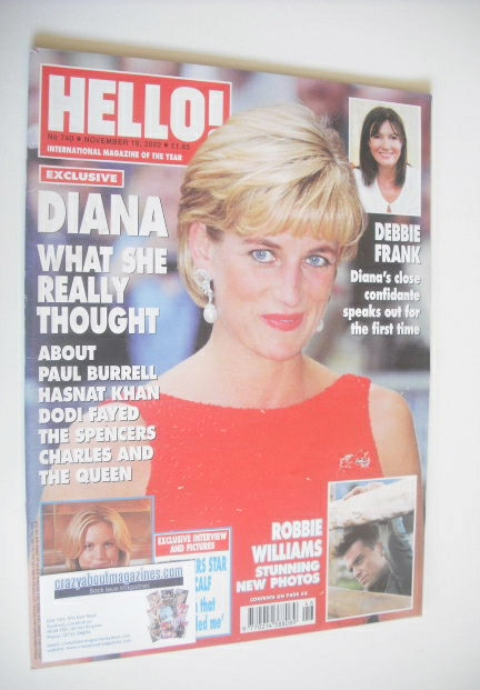 <!--2002-11-19-->Hello! magazine - Princess Diana cover (19 November 2002 -
