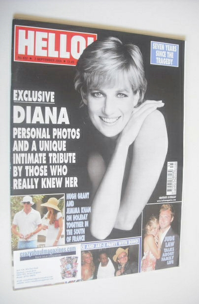 <!--2004-09-07-->Hello! magazine - Princess Diana cover (7 September 2004 -