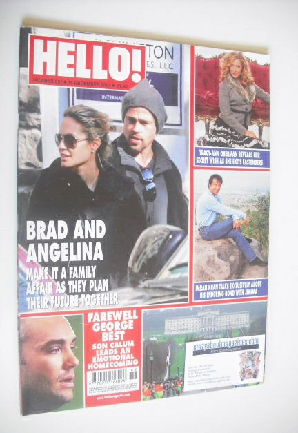 <!--2005-12-15-->Hello! magazine - Brad Pitt and Angelina Jolie cover (15 D