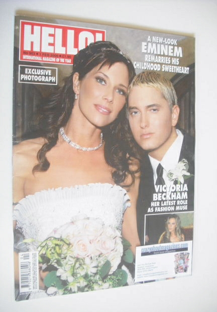<!--2006-02-01-->Hello! magazine - Eminem and Kim Mathers wedding cover (1