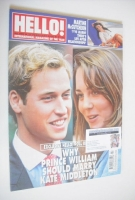 <!--2006-02-21-->Hello! magazine - Prince William and Kate Middleton cover (21 February 2006 - Issue 906)