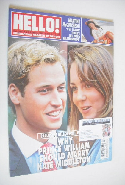 <!--2006-02-21-->Hello! magazine - Prince William and Kate Middleton cover