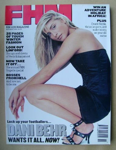 <!--1995-11-->FHM magazine - Dani Behr cover (November 1995)