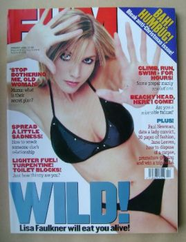 FHM magazine - Lisa Faulkner cover (January 1999)